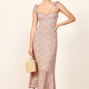 REFORMATION Nikita Long Midi Dress Shelby Floral 4